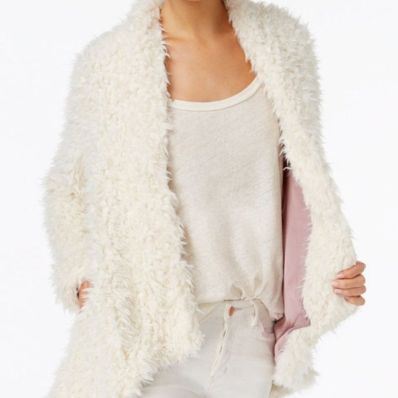 Free People Jackets & Blazers - SOLD OUT fuzzy white free people jacket